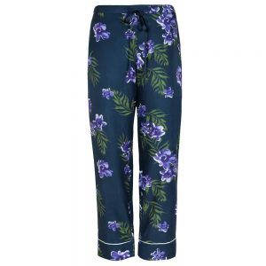 Silk Cotton Tapered Leg Pyjama Pant in Calycanthus