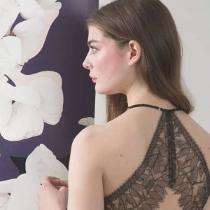 'Camo Bloom' Silk Bias Lace Back Slip