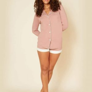 Bella Bridal Long Sleeve Boxer PJ Set